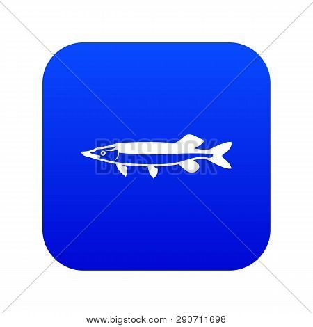Saury Icon Digital Blue For Any Design Isolated On White Vector Illustration
