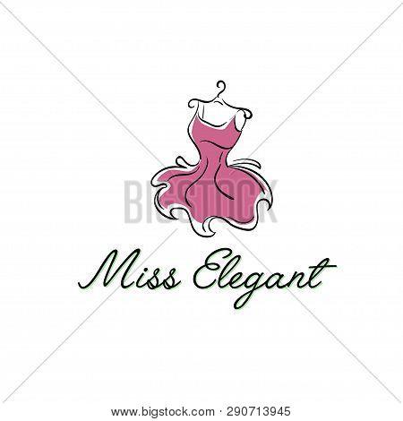 Puffy Pink Dress On A Hanger Logo