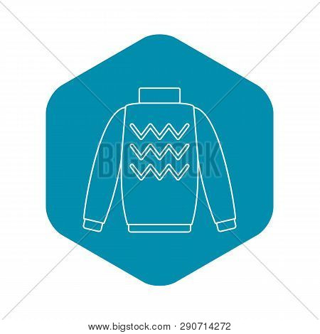 Pullover Icon. Outline Illustration Of Pullover Vector Icon For Web