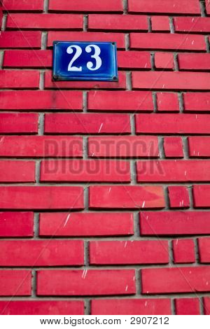 Number On Brick Wall
