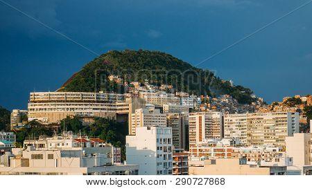 View Of Cantagalo Favela Near Ipanema, Rio De Janeiro, Brazil