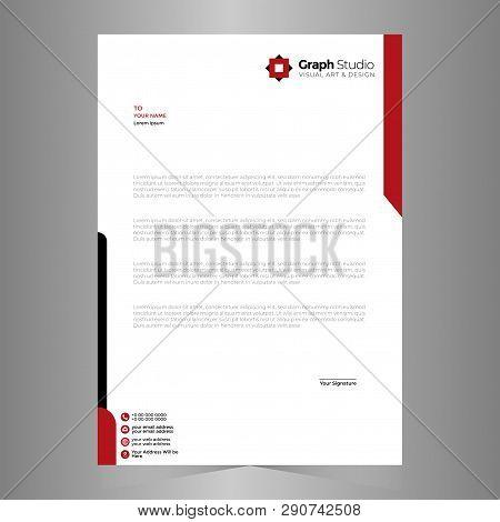 Letterhead Template Creative Design Abstract Vector Illustration Design