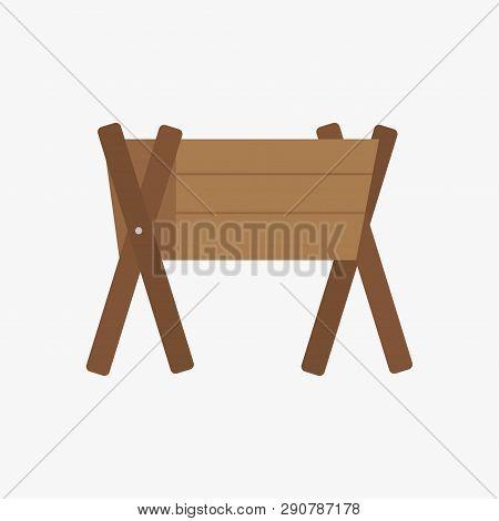 Trough. Wooden Trough. Farm. Vector Illustration. Eps 10.