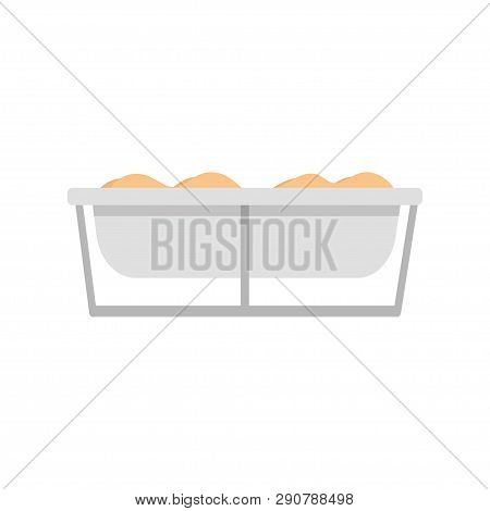 Trough. Trough Feed. Feed. Farming. Simple Element Vector Illustration On White Background. Eps 10.