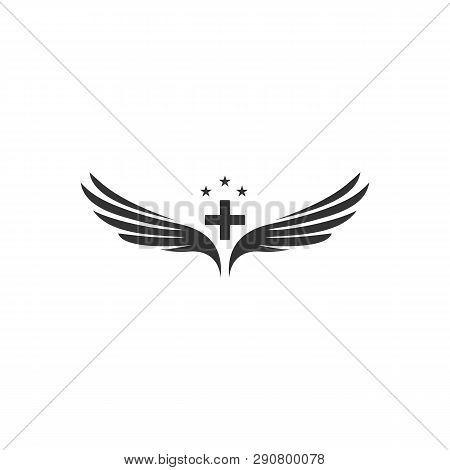 Winged Logo Company And Icon Wing Flying, Eagle Wing Brand And Logotype Wing Bird Illustration