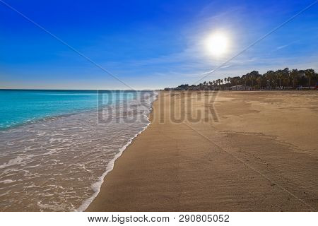 Cristall Cristal beach in Miami Platja of Tarragona at costa Dorada of Catalonia