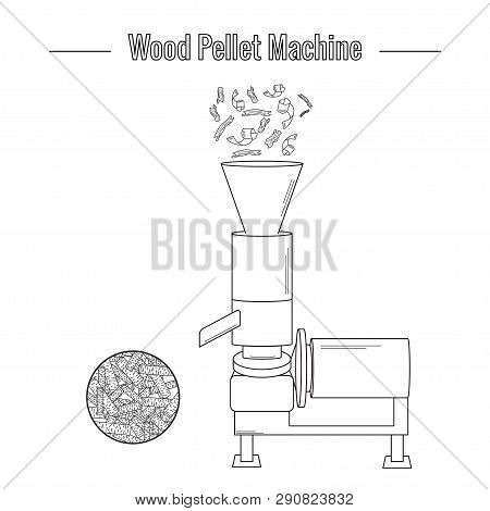 A Wood Pellet Production Machine Is Used To Process Pressed Wood Waste For The Production Of Boiler