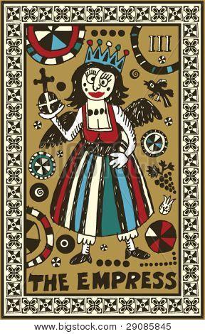 hand drawn tarot deck, major arcana, the empress