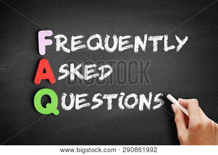 Color Wooden Alphabets Building The Word Faq - Frequently Asked Questions Acronym On Blackboard