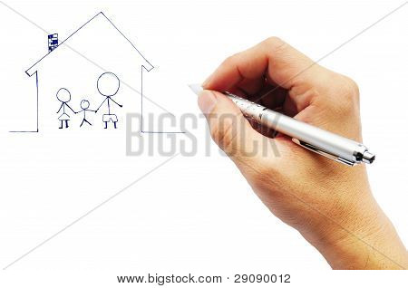 Male Hands With Pen
