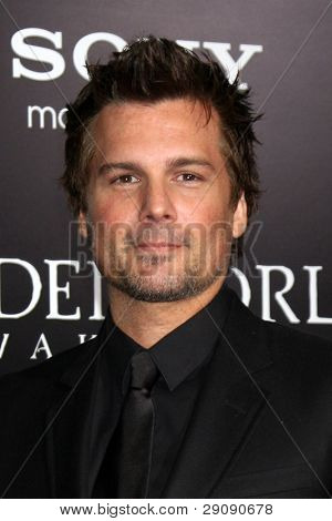 """LOS ANGELES - JAN 19:  Len Wiseman arrives at  the """"Underworld Awakening"""" Los Angeles Premiere at Graumans Chinese Theater on January 19, 2012 in Los Angeles, CA"""