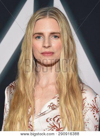 LOS ANGELES - MAR 19:  Brit Marling arrives for the Netflix