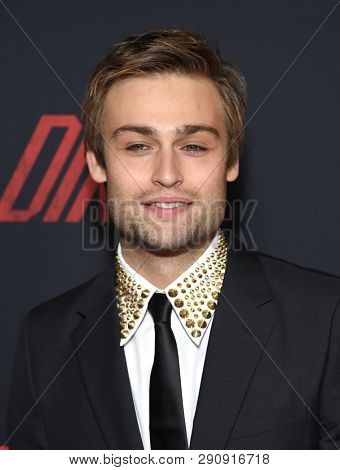 LOS ANGELES - MAR 18:  Douglas Booth arrives for the Netflix 'The Dirt' Premiere on March 18, 2019 in Hollywood, CA