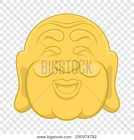 Budha Head Icon In Cartoon Style On A Background For Any Web Design