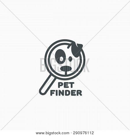 Pet Finder Logo Design Template. Vector Illustration.