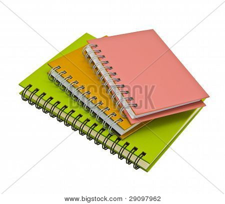 Stack Of Ring Binder Notebooks