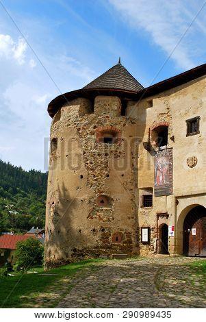 Banska Stiavnica, Slovakia - September 14, 2018: The Old Castle In Banska Stiavnica
