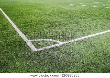 Corner Football Field, Corner Chalk Mark Artificial Grass Soccer Field