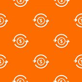 Circulation money pattern vector orange for any web design best poster
