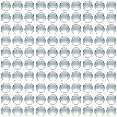 Optical Art Seamless Tiled Air Bubbles Light Grey poster
