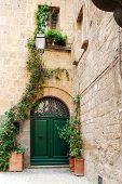 Street of the city Orvieto, Italy, Toscana. Ancient street of the city Orvieto, Italy, Umbria poster