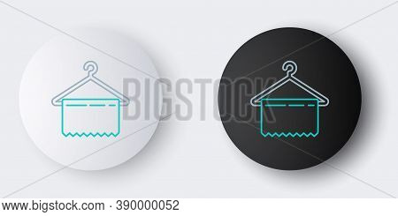 Line Hanger Wardrobe Icon Isolated On Grey Background. Clean Towel Sign. Cloakroom Icon. Clothes Ser