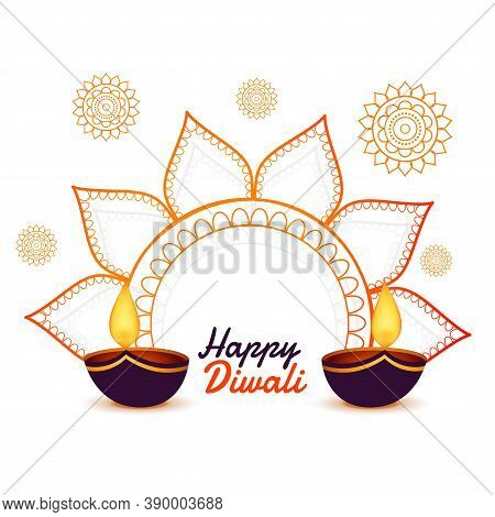 Decorative Happy Diwali Festival Card Design Background