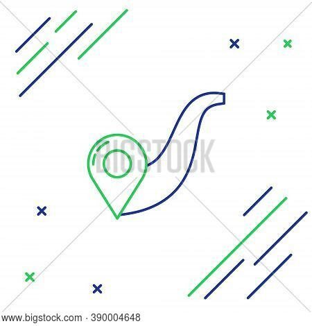 Line Route Location Icon Isolated On White Background. Map Pointer Sign. Concept Of Path Or Road. Gp