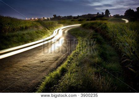 Rural Night Road