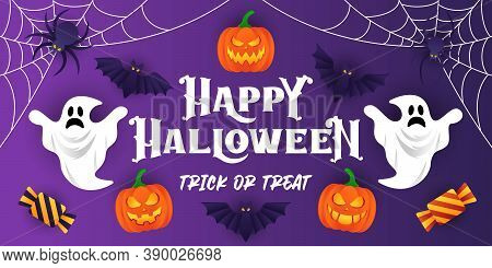 Happy Halloween background vector. Halloween vector background. Halloween vector illustration. Halloween. Halloween design. Halloween party background vector template. Halloween vector illustration for background, banner and invitation design.
