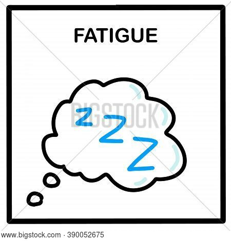 Fatigue Hand Drawn Vector Illustration Icon In Cartoon Doodle Style Sleepy Weak
