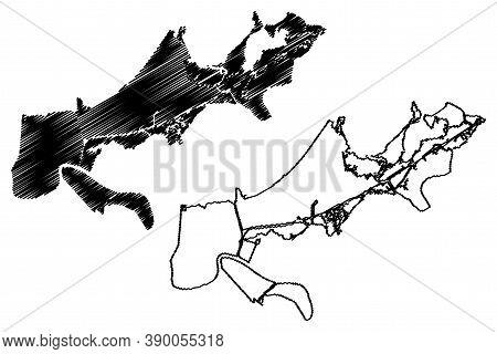 Orleans County, Louisiana (u.s. County, United States Of America, Usa, U.s., Us) Map Vector Illustra