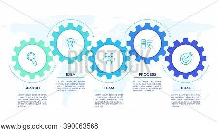 Gears Infographics. Cogwheels Transmission Connecting Mechanical, Engineering Techo Progress Busines