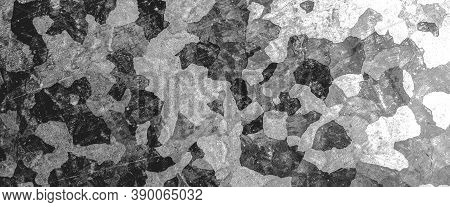 Black Army Background. Watercolour Camouflage Pattern. Khaki Texture. Abstract Combat Material. Army