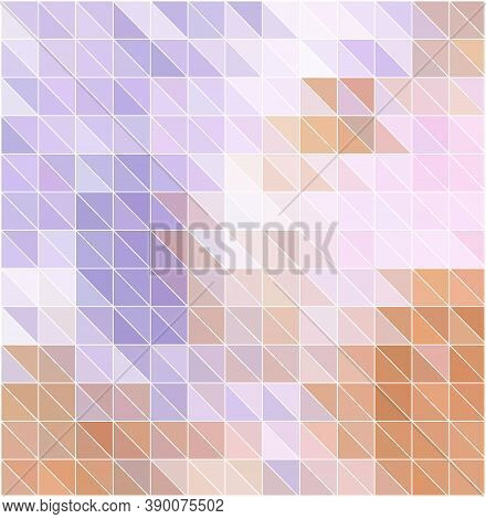 Abstract Colored Bright Summer Background, Triangular Geometric Style