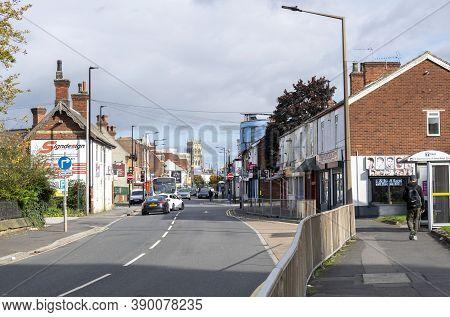 Doncaster, Yorkshire, England -  October 7, 2020. St Sepulchre Gate West Street In Doncaster.