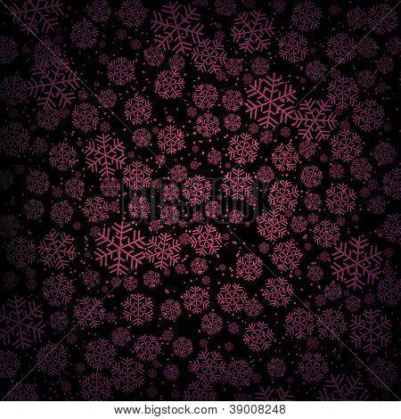 Dark Purple Snowfall