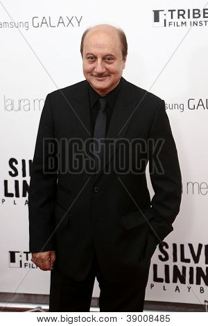 NEW YORK-NOV 12: Actor Anupam Kher attends the premiere of