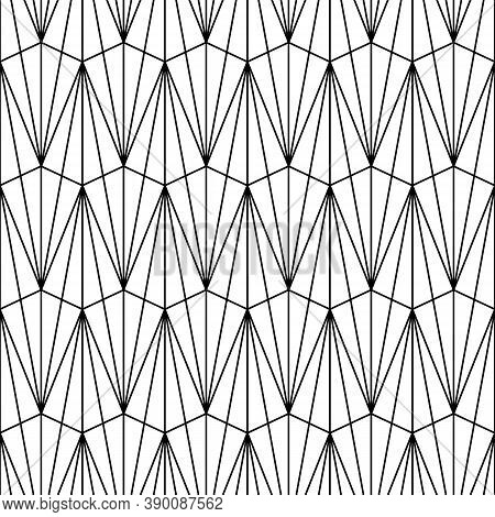 Seamless Pattern With Triangle Shapes. Interlocking Triangles Tessellation Background. Image With Re