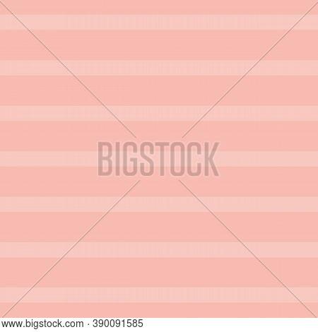 Vector Beige Pink Textured Stripe Seamless Pattern Background. Versatile Two Toned Light Pink Stripe