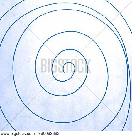 Blue Abstract Scribble Background. Random Paint Drawing. School Chaotic Artwork. Entangled Radial De