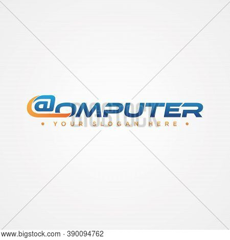 Modern Design Computer Letter For Your Best Business Symbol. Capital Letter Symbol Icon Design. Vect