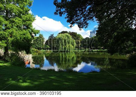 The Lake In The Center Of Hanover City, Germany