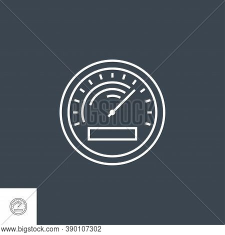 Efficiency Related Vector Thin Line Icon. Isolated On Black Background. Editable Stroke. Vector Illu