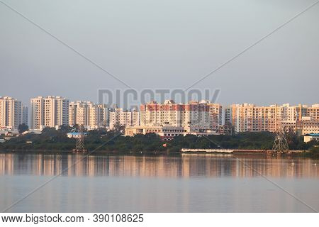Gorgeous Buildings With New And Modern Technology Built Near The Lake, Architecture, Apartment Renta