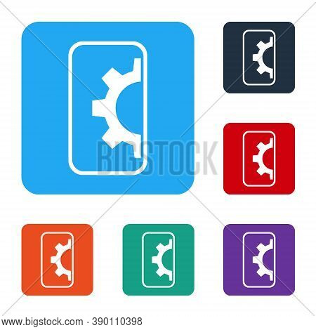 White Software, Web Development, Programming Concept Icon Isolated On White Background. Programming