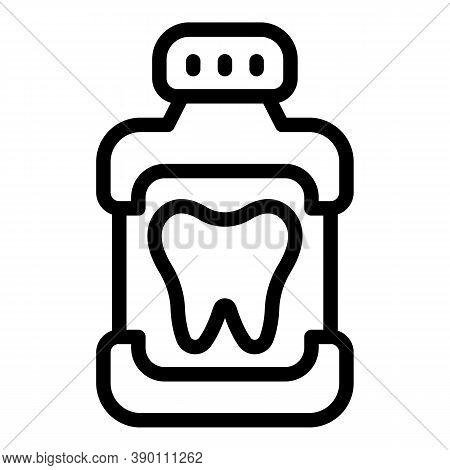 Dental Mouthwash Icon. Outline Dental Mouthwash Vector Icon For Web Design Isolated On White Backgro