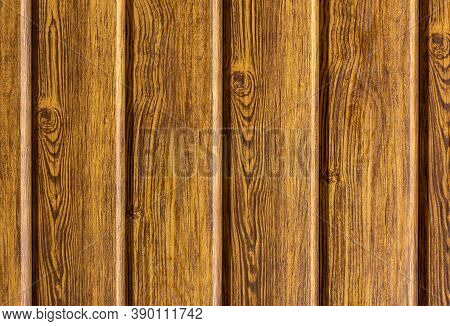 New Wood Surface With Natural Wood Pattern. Wooden Wall Of The House, Covered With Varnish. Natural