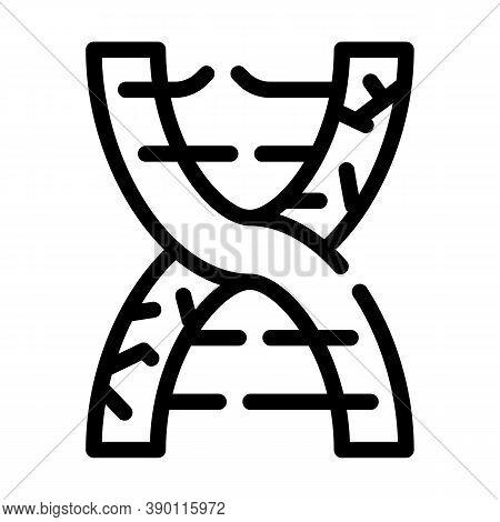 Dna Decay Line Icon Vector Black Illustration