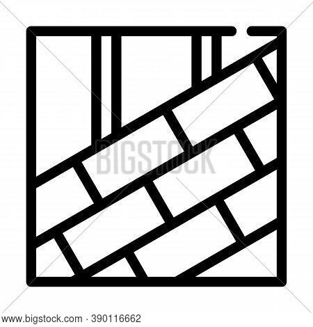 Roof Tiles Laying Line Icon Vector Illustration